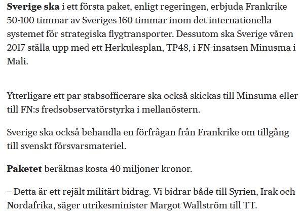 frankrike vill ha JAS-plan